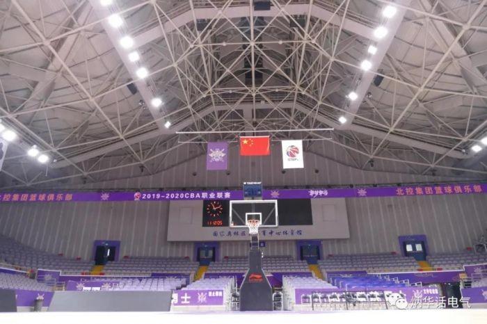某地奥体中心体育馆场地照明测试